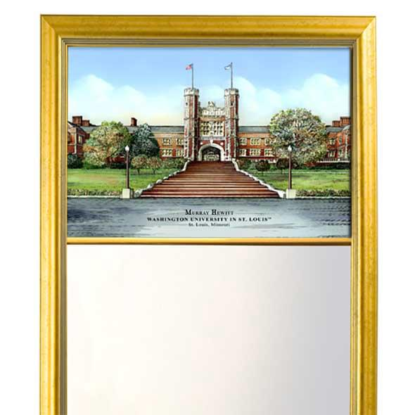 WUSTL Eglomise Mirror with Gold Frame - Image 2