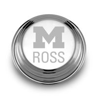 Michigan Ross Pewter Paperweight