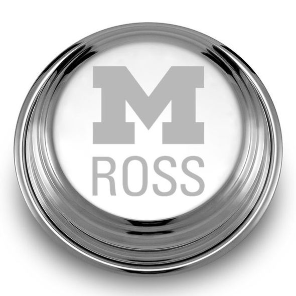 Michigan Ross Pewter Paperweight - Image 2