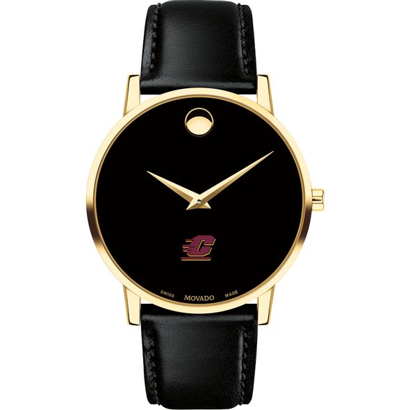 Central Michigan Men's Movado Gold Museum Classic Leather - Image 2