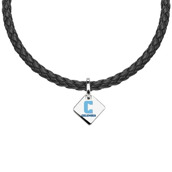 Columbia Leather Necklace with Sterling Silver Tag