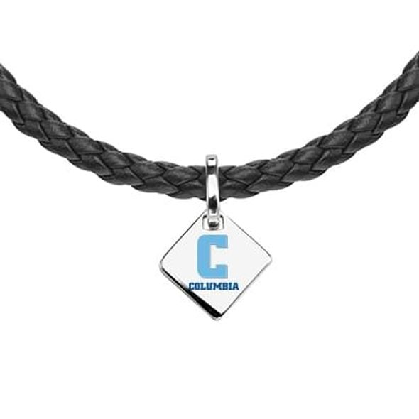Columbia Leather Necklace with Sterling Silver Tag - Image 2