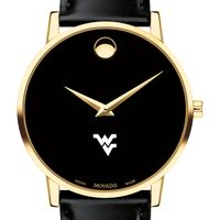 West Virginia University Men's Movado Gold Museum Classic Leather