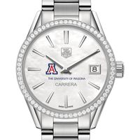 University of Arizona Women's TAG Heuer Steel Carrera with MOP Dial & Diamond Bezel