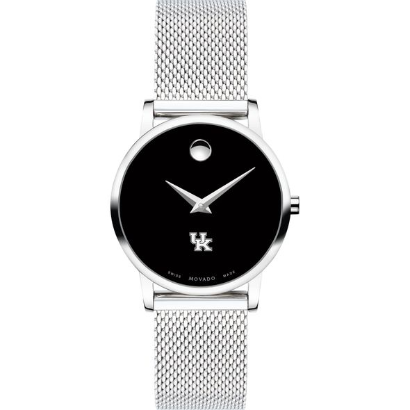 University of Kentucky Women's Movado Museum with Mesh Bracelet - Image 2