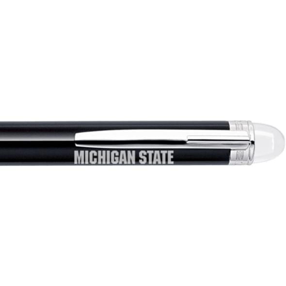 Michigan State University Montblanc StarWalker Ballpoint Pen in Platinum - Image 2