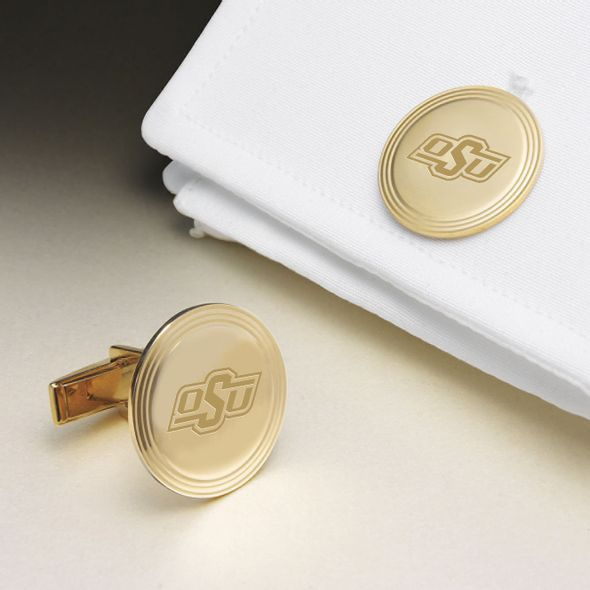 Oklahoma State University 18K Gold Cufflinks - Image 1