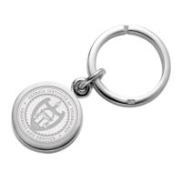 Georgia Tech Sterling Silver Insignia Key Ring