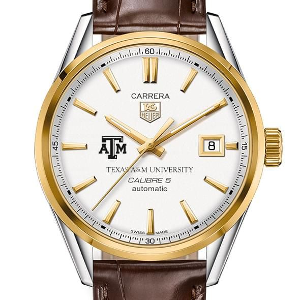 Texas A&M Men's TAG Heuer Two-Tone Carrera with Strap