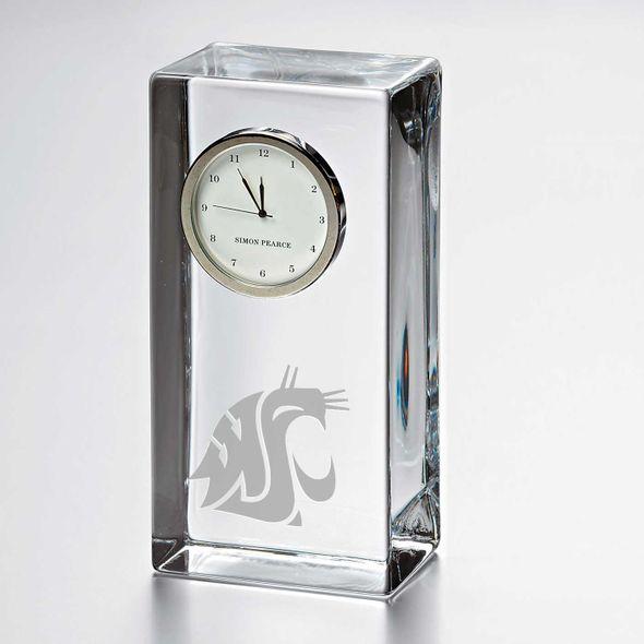 Washington State University Tall Glass Desk Clock by Simon Pearce