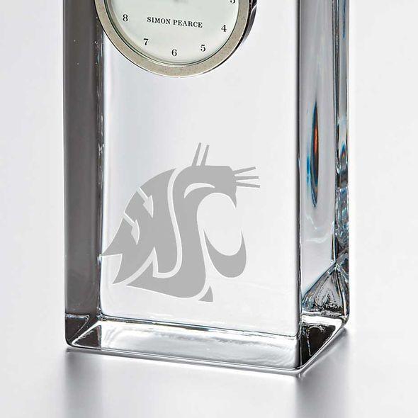 Washington State University Tall Glass Desk Clock by Simon Pearce - Image 2