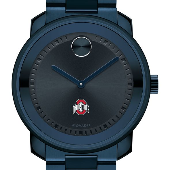 Ohio State University Men's Movado BOLD Blue Ion with Bracelet - Image 1