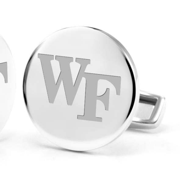 Wake Forest University Cufflinks in Sterling Silver - Image 2