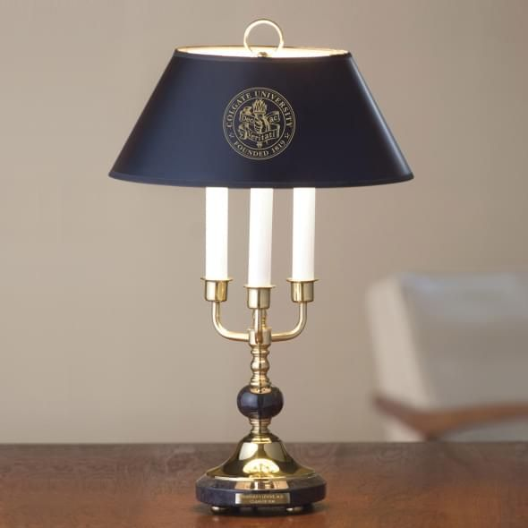 Colgate University Lamp in Brass & Marble