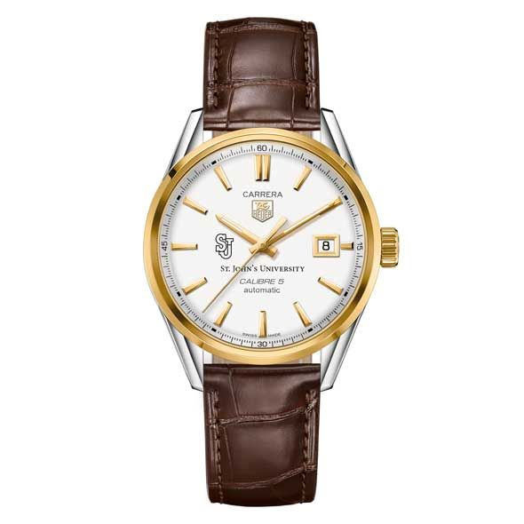 St. John's Men's TAG Heuer Two-Tone Carrera with Strap - Image 2