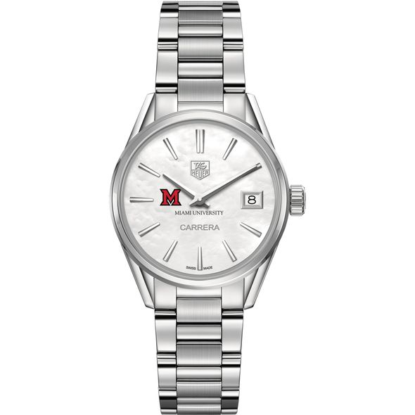 Miami University Women's TAG Heuer Steel Carrera with MOP Dial - Image 2