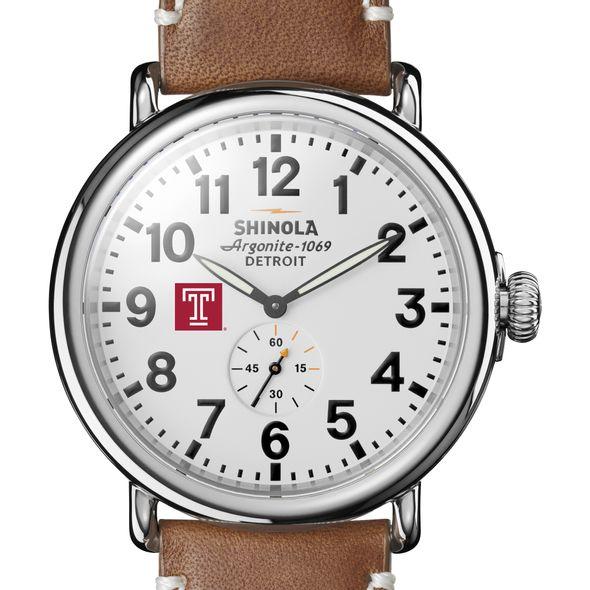 Temple Shinola Watch, The Runwell 47mm White Dial