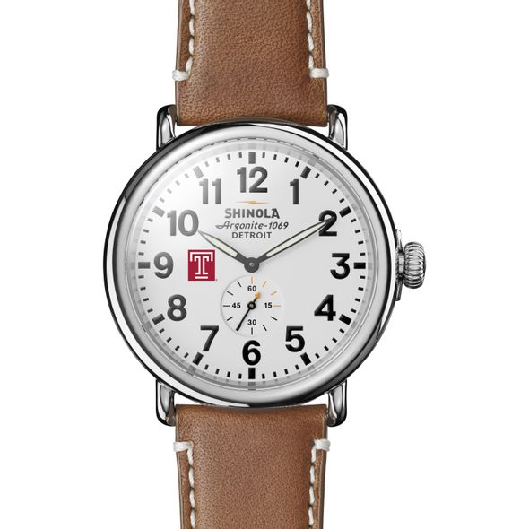 Temple Shinola Watch, The Runwell 47mm White Dial - Image 2