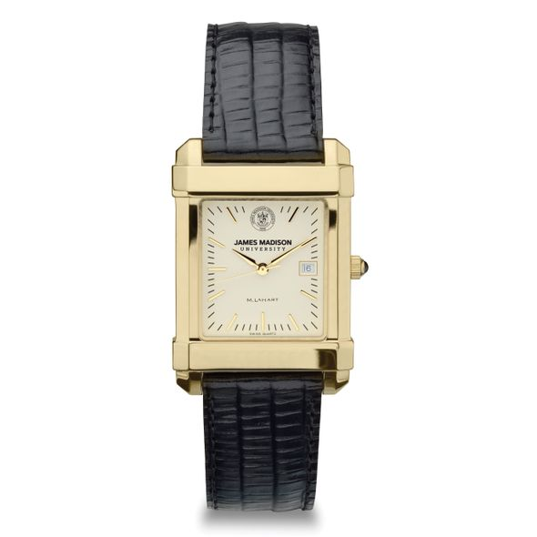 James Madison Men's Gold Quad with Leather Strap - Image 2