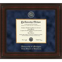 Michigan Ross Diploma Frame - Excelsior