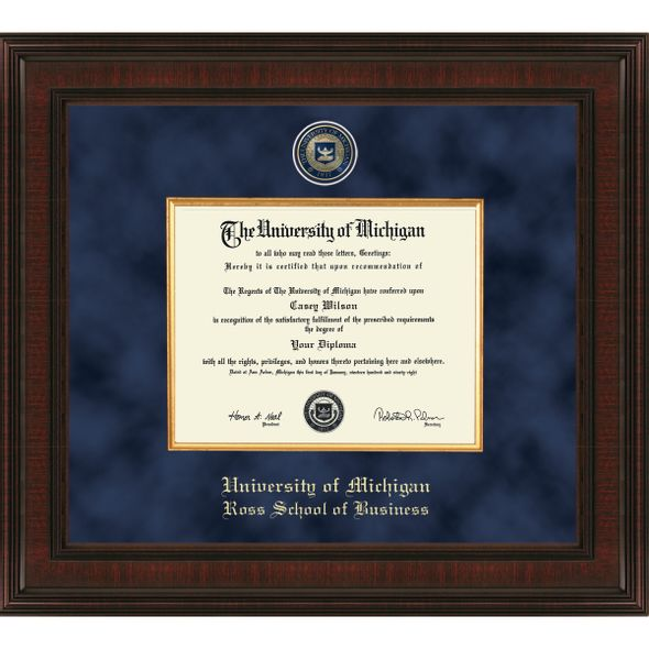 Michigan Ross Diploma Frame - Excelsior - Image 1