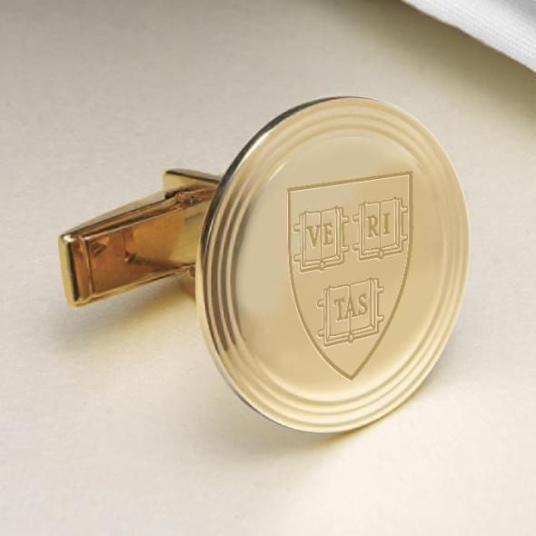 Harvard 18K Gold Cufflinks - Image 2