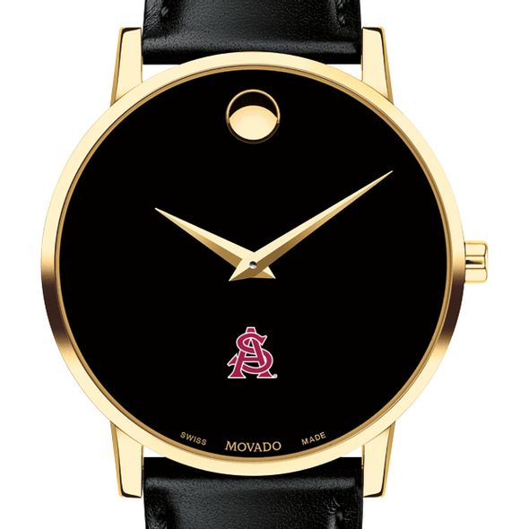 Arizona State Men's Movado Gold Museum Classic Leather