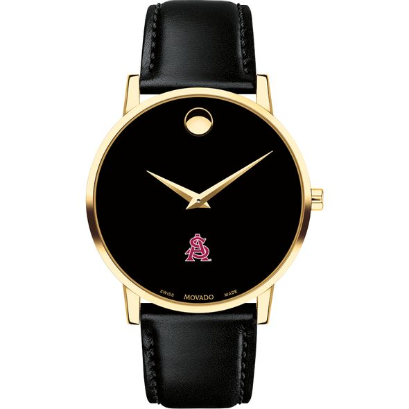 Arizona State Men's Movado Gold Museum Classic Leather - Image 2