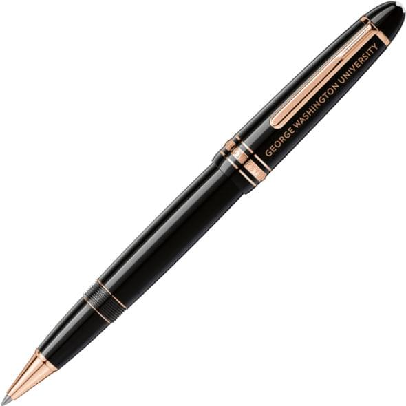 George Washington University Montblanc Meisterstück LeGrand Rollerball Pen in Red Gold - Image 1