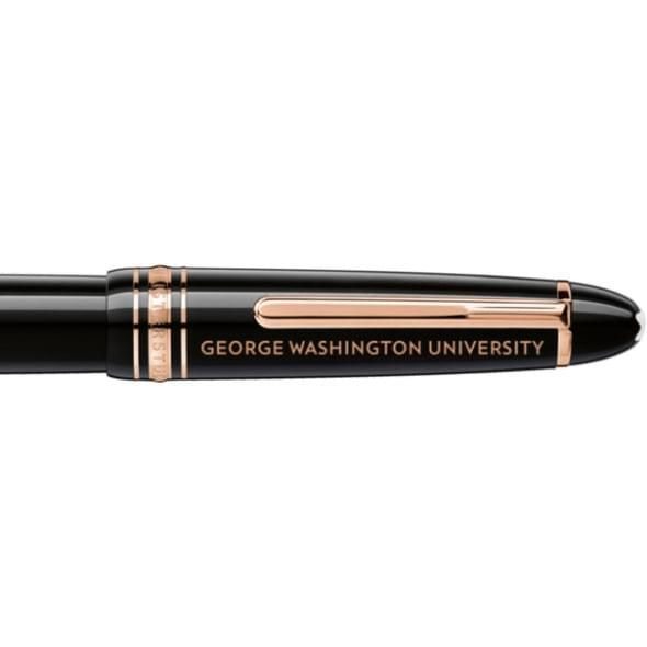 George Washington University Montblanc Meisterstück LeGrand Rollerball Pen in Red Gold - Image 2