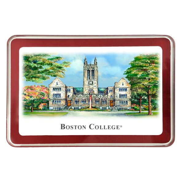 Boston College Eglomise Paperweight