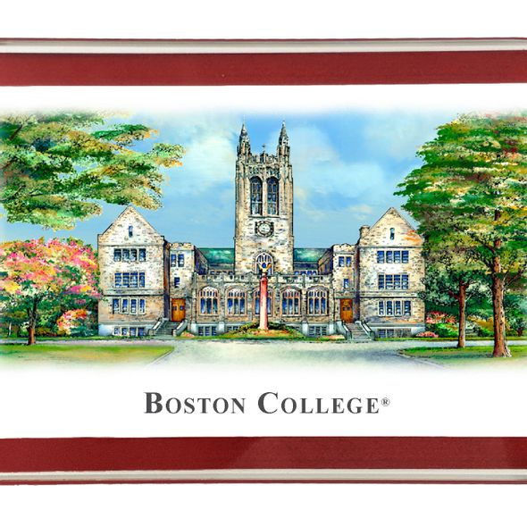 Boston College Eglomise Paperweight - Image 2