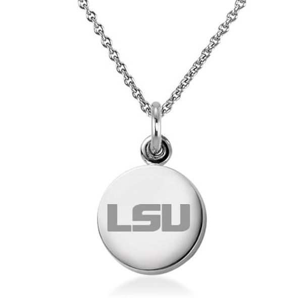 Louisiana State University Necklace with Charm in Sterling Silver - Image 1