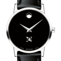 Northeastern Women's Movado Museum with Leather Strap