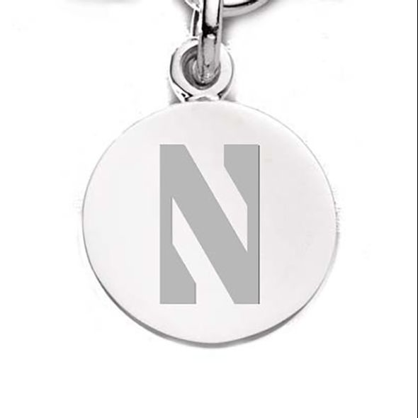 Northwestern Sterling Silver Charm