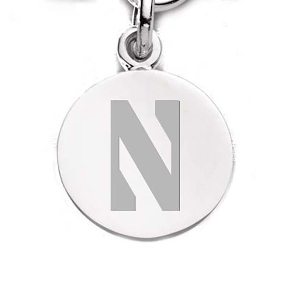 Northwestern Sterling Silver Charm