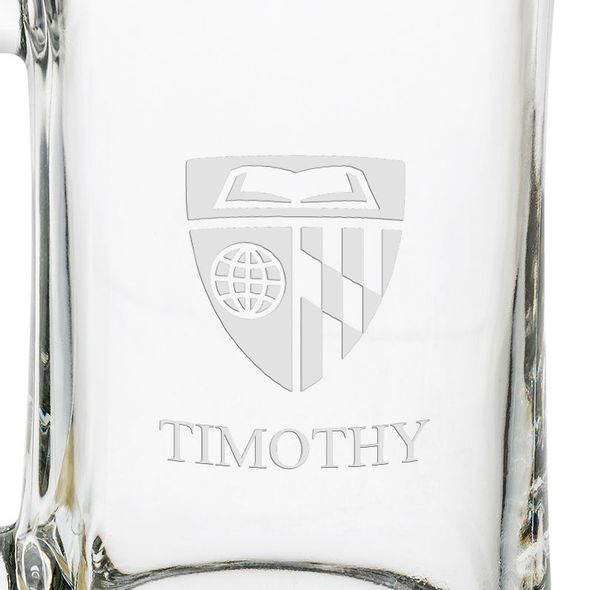 Johns Hopkins 25 Oz Glass Stein - Image 3