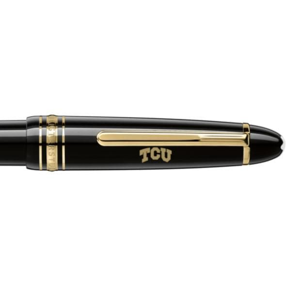 Texas Christian University Montblanc Meisterstück LeGrand Ballpoint Pen in Gold - Image 2