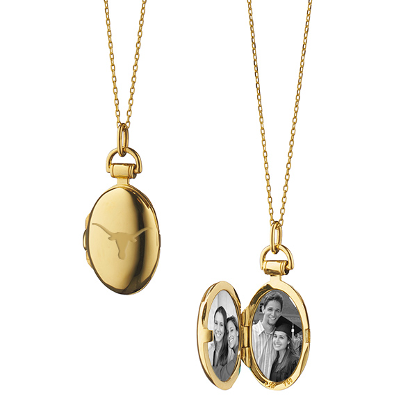 University of Texas Monica Rich Kosann Petite Locket in Gold
