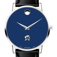 University of Maryland Men's Movado Museum with Blue Dial & Leather Strap