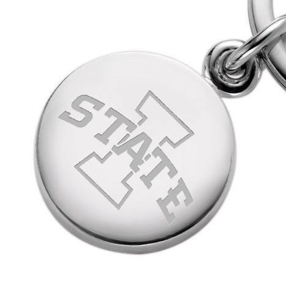 Iowa State University Sterling Silver Insignia Key Ring - Image 2