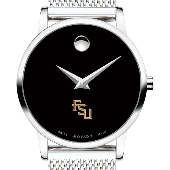 Florida State University Women's Movado Museum with Mesh Bracelet - Image 1