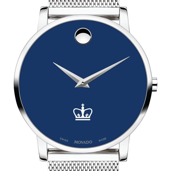 Columbia University Men's Movado Museum with Blue Dial & Mesh Bracelet