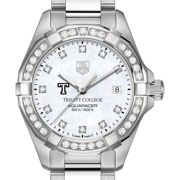 Trinity College W's TAG Heuer Steel Aquaracer with MOP Dia Dial & Bezel