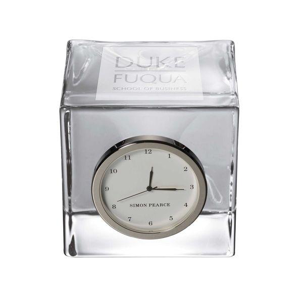 Duke Fuqua Glass Desk Clock by Simon Pearce