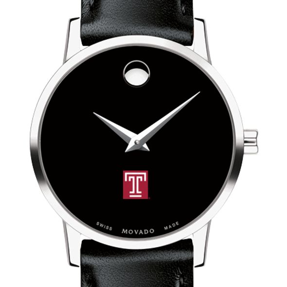 Temple Women's Movado Museum with Leather Strap