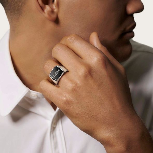 LSU Ring by John Hardy with Black Onyx - Image 1
