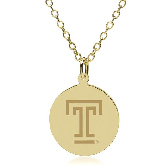 Temple 14K Gold Pendant & Chain