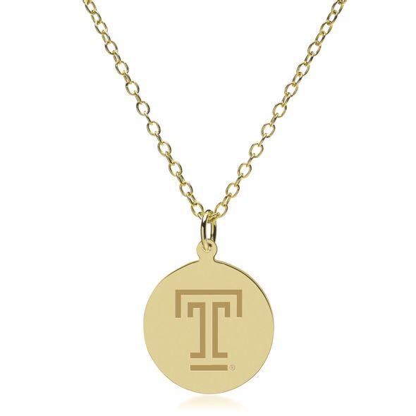 Temple 14K Gold Pendant & Chain - Image 2