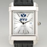 Brigham Young University Men's Collegiate Watch with Leather Strap